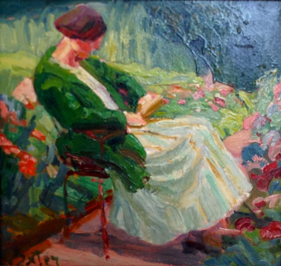 One of Julius Exter's many garden ladies.