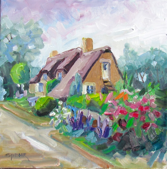 Summer in Brittany. 12x12 oil ob linen. Available. Consult the artist.