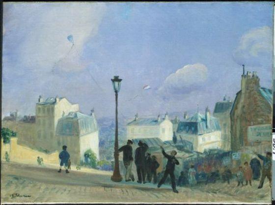 Flying Kites, Monmartre, William James Glackens, 1906