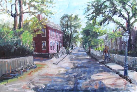 Main Street, Nantucket, 20x30 oil on linen, Stebner