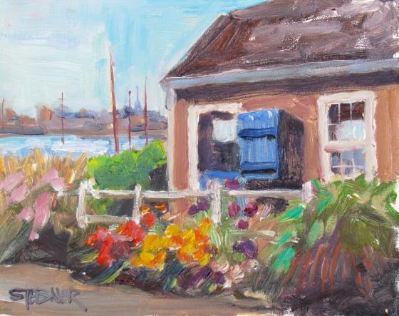 Nantucket Harbor, 8x10 oil on panel. Stebner