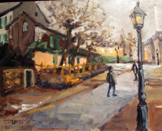 Monmartre; Lapin Agile 11x14 Stebner oil on panel