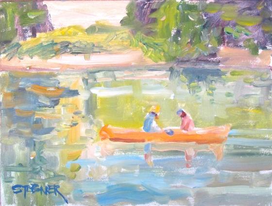 Sunny Reflections, Stebner 6x8 oil on panel.