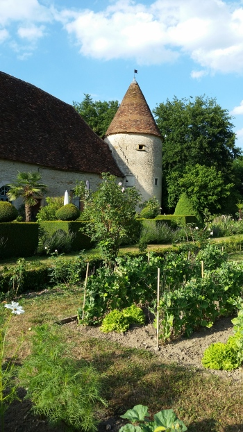 The potager at Chateau Chatillon.