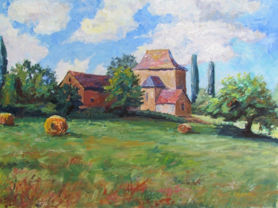 Peaceful Times, the Perigord. Stebner 30x40 oil on linen.