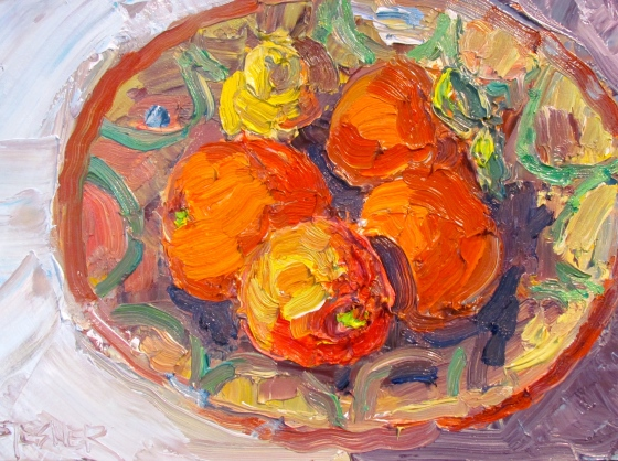 Bowl ofOranges 8x10 oil on panel