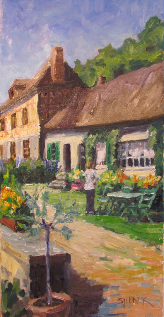 Contemplation; What's Next?, Normandy. 12x24 oil on linen, Stebner